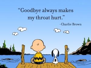 charlie brown saying goodbye