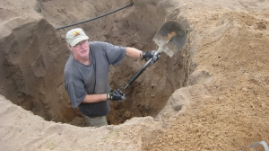 digging a latrine