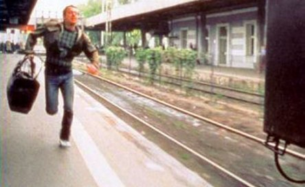 running to catch the train