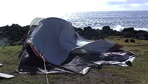 tent down